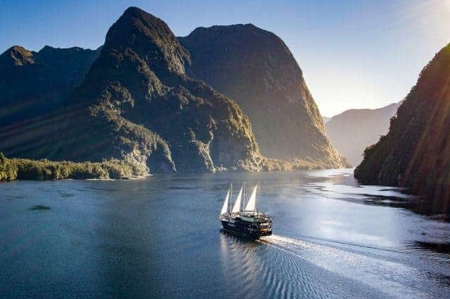 Milford Sound is a fiord in the southwest of New Zealand's South Island