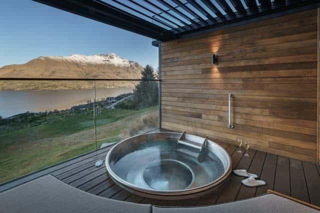 Soak in a tub and take in the best views of Lake Wakatipu.