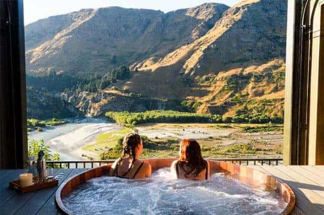 Enjoy a soak in a tub admiring a great view